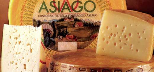 Formaggio Asiago, from the mountains near Vicenza, a DOP product of Veneto