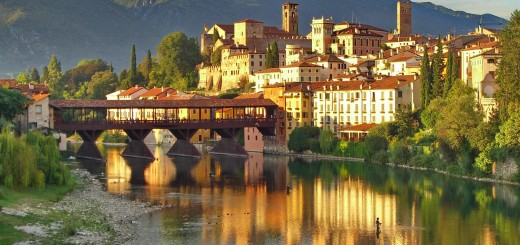 View of Bassano del Grappa from outside