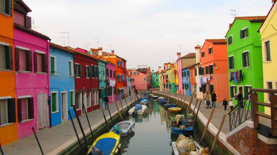 The colored houses of Burano