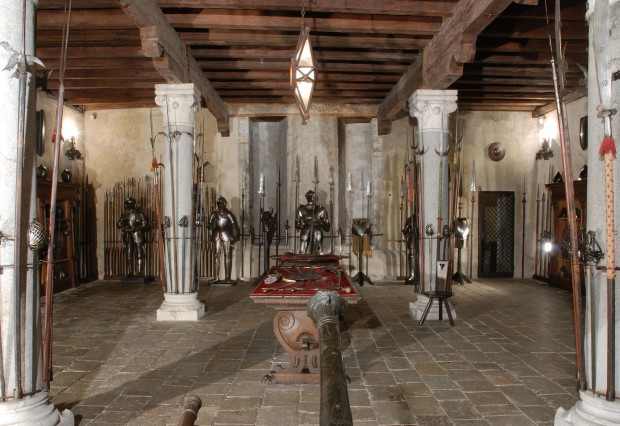 The armory inside Monselice's Castle