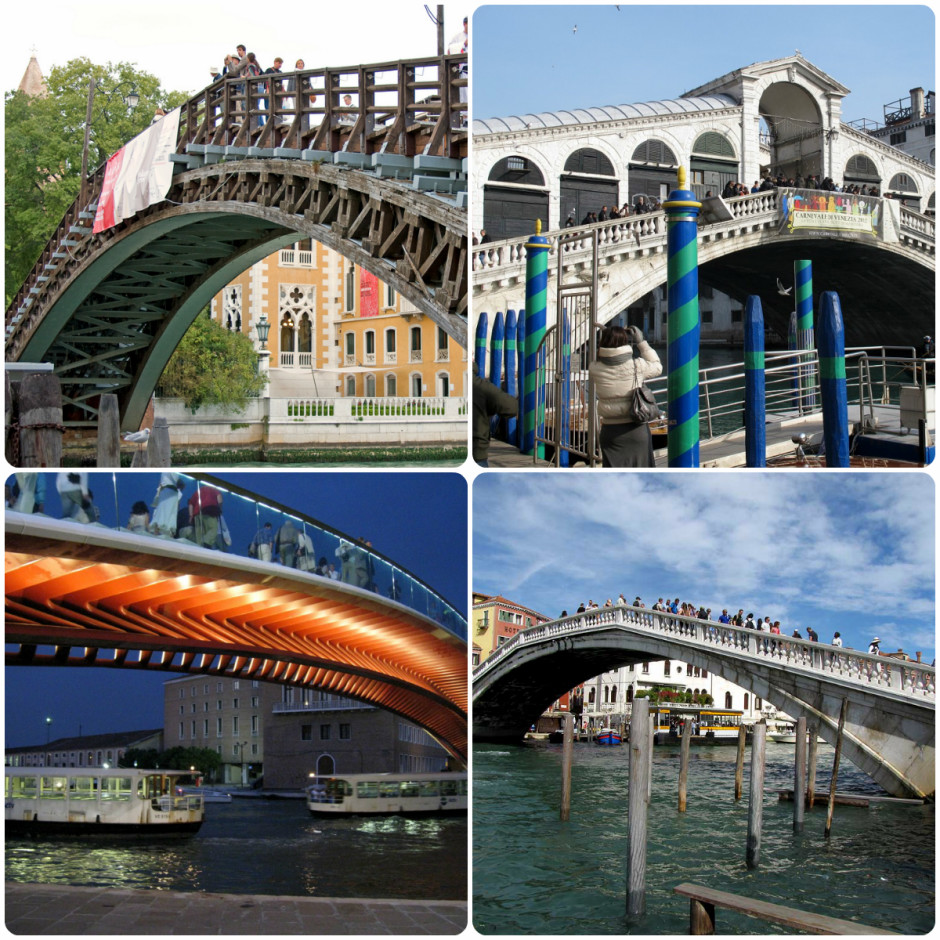 The four bridges on Canal Grande