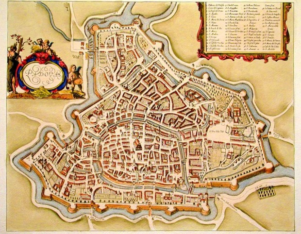 Medieval Map of Padova