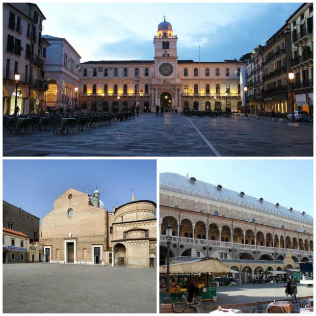 The main squares of Padova
