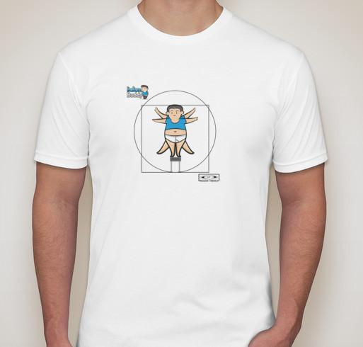 "T-Shirt design ""Uomo vitruviano"""